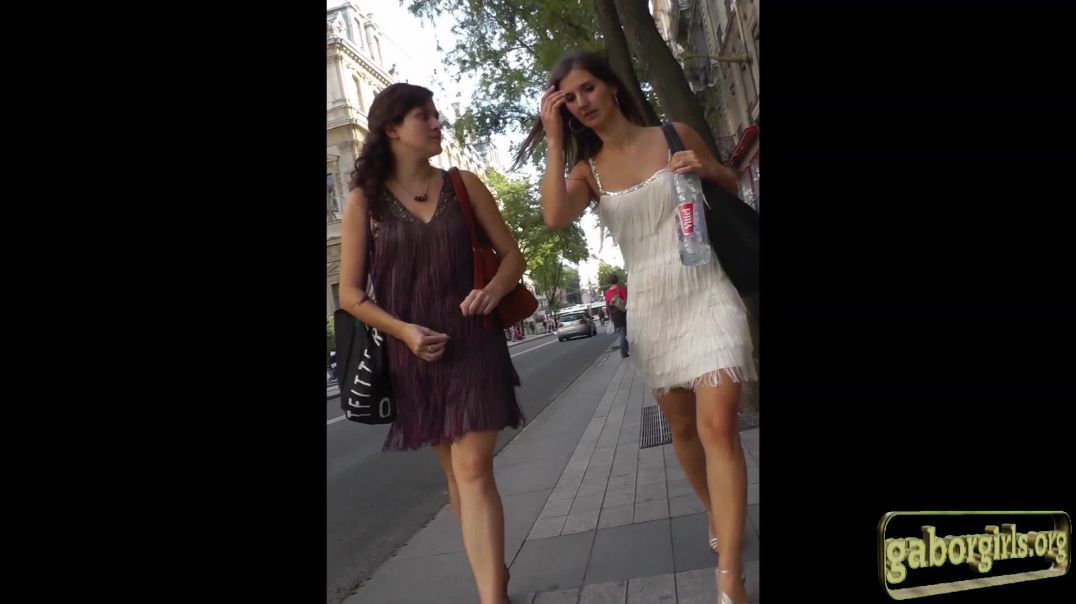 Sexy Lady in white skirt and heels