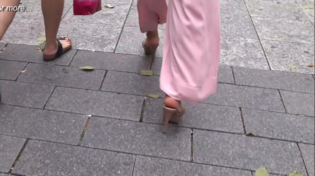 Gaborgirlstube Street Candid  - Sexy Thai Mules