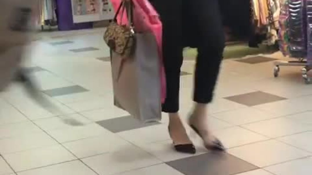 Sexy Slingback Heels at the Mall