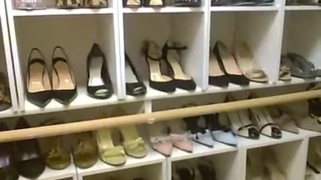 Flight Attendant Shoe Closet