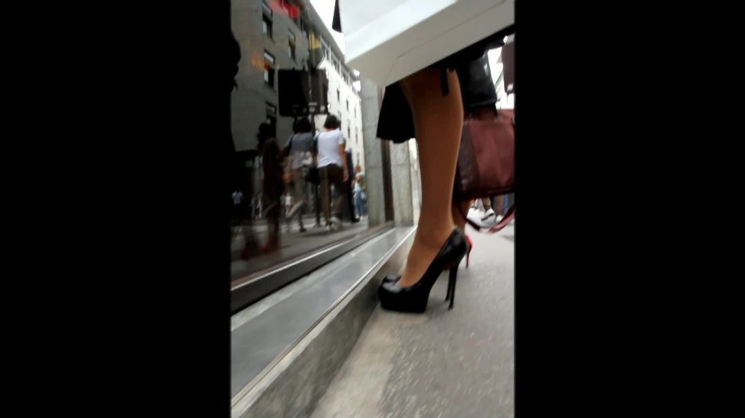 Street Candid - Sexy Italian Girls in Stiletto  Heels by Digital Hunter