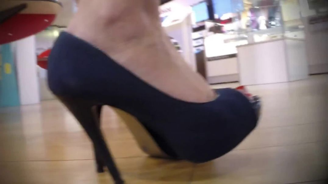 Indoor candid -  Sexy Peeptoe Pumps