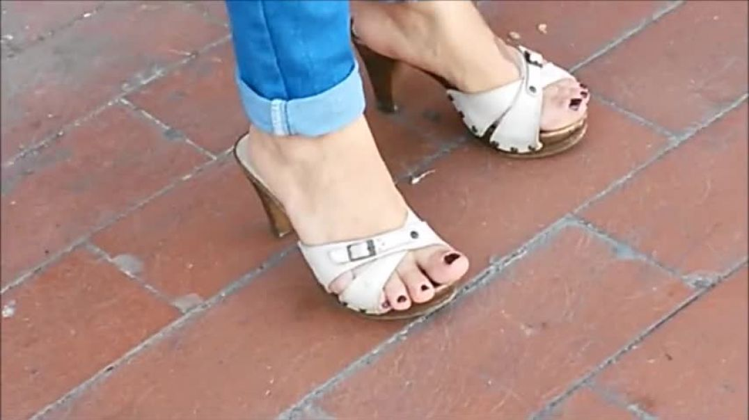 Candid Mature Mules At A Bus Stop