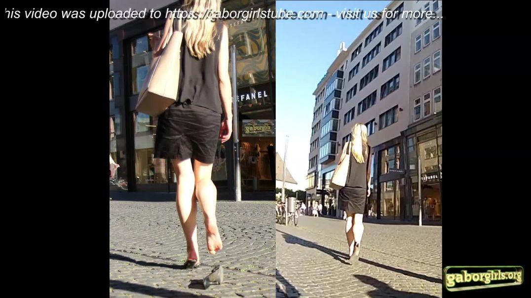 Gaborgirlstube Street Candid - La Principessa lost her sexy Mules - Final Clip