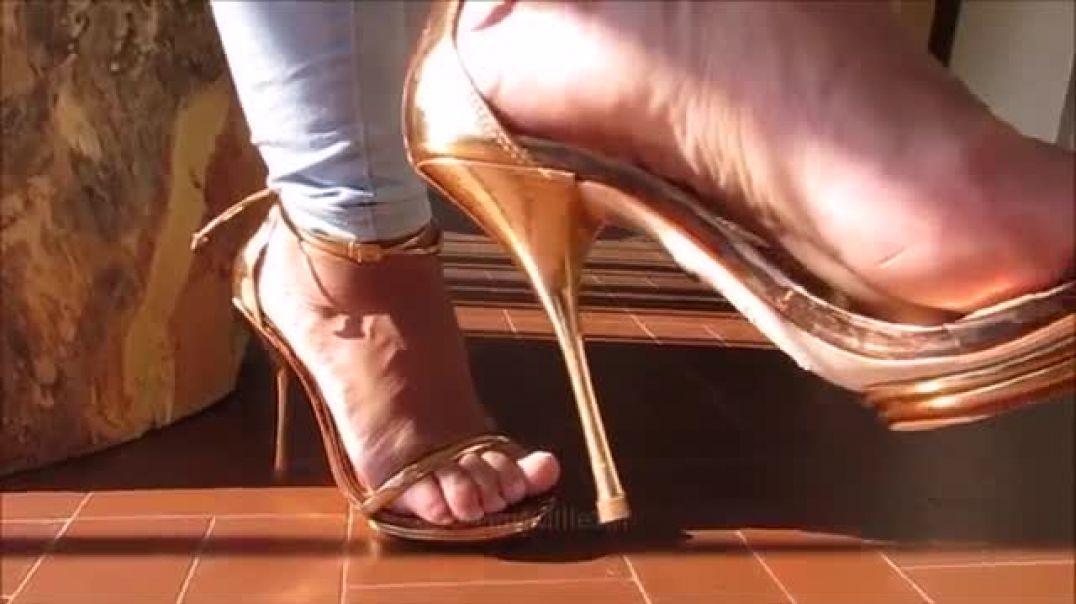 Buffalo Strappy Sandals Highheels by Stilettoheels06