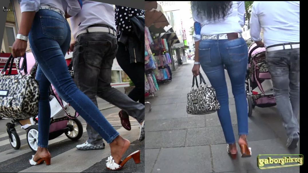 Gaborgirlstube Street Candid - Sexy Mom in Zoccoli Mules - Full Version