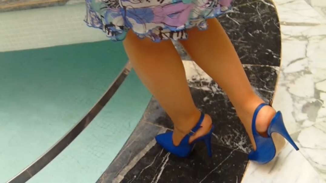 Blue Slingpumps part 2