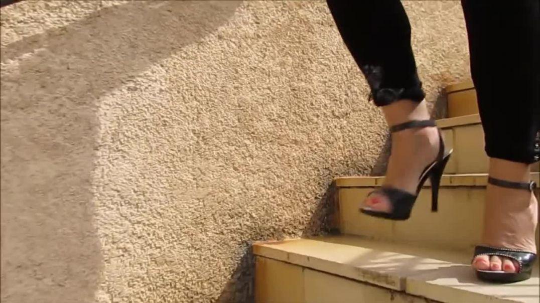 Street Candid - super sexy GML Highheeled Sandals by Stilettoheels06