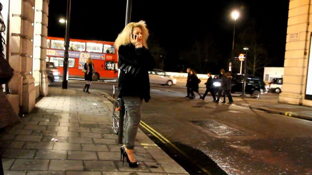 Street Candid - Hot Blonde in Louboutin High Heels by Digital Hunter